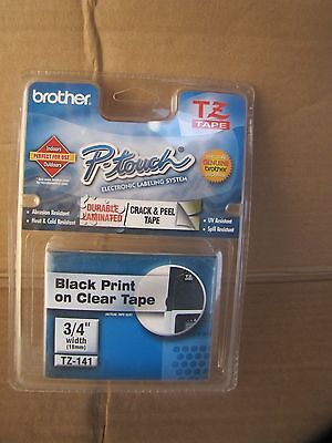 brother p-touch labelin system tz tape 3/4 with black