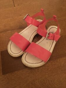 Pink size 12 sandals for a little girl