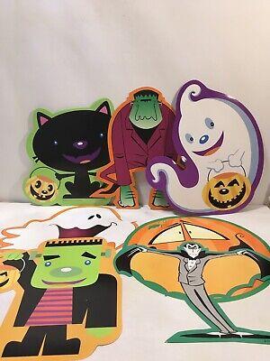Cute Halloween Pumpkin Designs (Beistle Tracy Design Diecut Halloween Lot Cute Ghost Black Cat Vampire)