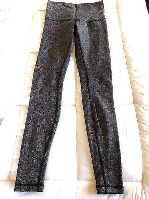 Lululemon leggings herringbone black small full length