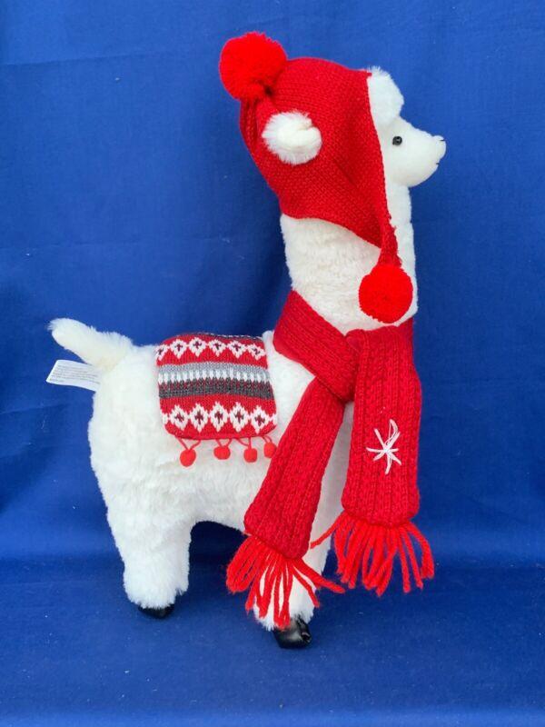 Vintage Llama Alpaca Stocking Hat Scarf Matching Blanket Plush Winter Doll ❤️m13
