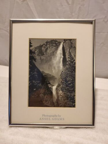 "ANSEL ADAMS ~ Yosemite Falls ~ 8"" X10"" Framed Print ~ Fast Shipping!"