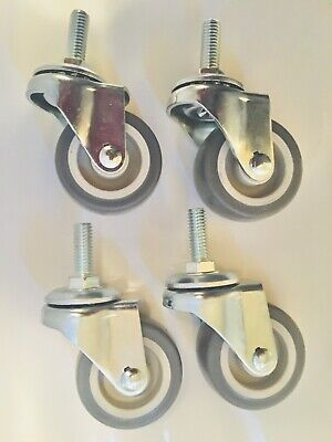 4 Pack Of 38-16 Threaded Stem Casters With 2 X 78 Trp Wheels