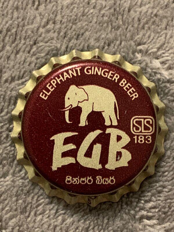 Elephant Ginger Beer New Old Stock Soda Bottle Cap Gray Plastic Lined Elephant