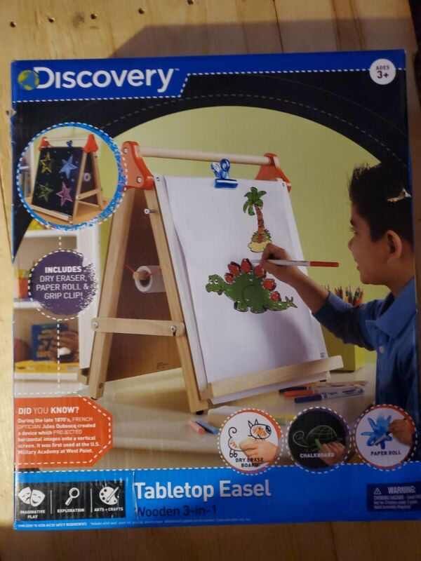 Discovery Kids Tabletop Dry Erase and Chalk Art Easel