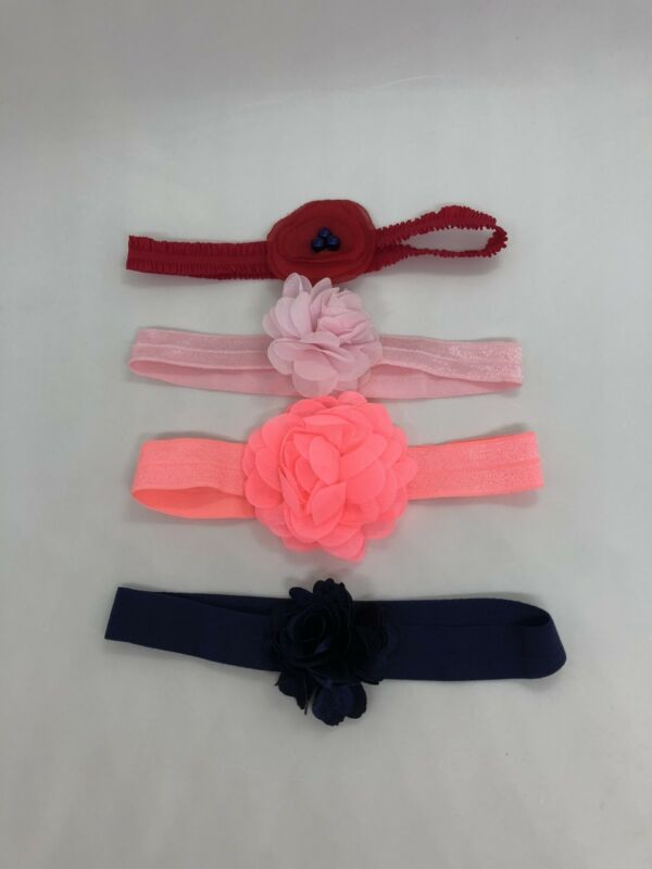 Lot of 4 Adorable Baby Girl Headbands one size