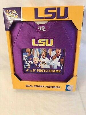 LSU Team Jersey Material Picture Frame 4