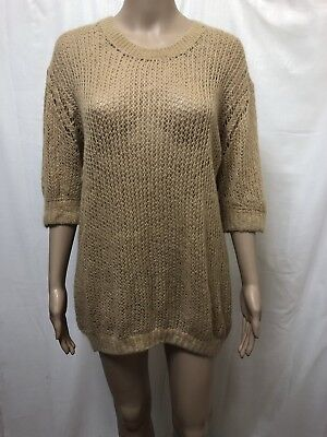 Jac + Jack Jumper Sweater Womens ~ Large ~ Great Cond Knit Knitted Mohair Wool