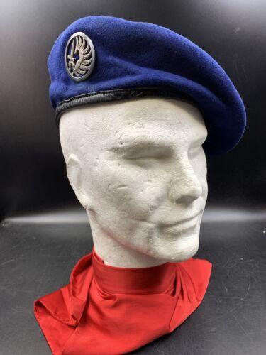 Beret parachutiste bleu roi, 3 parties , nominatif, tap, para ,algérie,indochine