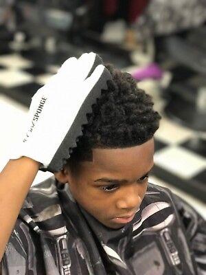 Curl Sponge Hand Glove PREMIUM - Afro Hair Twist Curls - White Afro