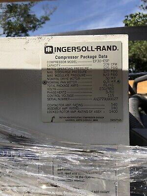 Ingersoll Rand Model Ep30-esp Air Compressor 30 Hp 109 Cfm 125 Psi