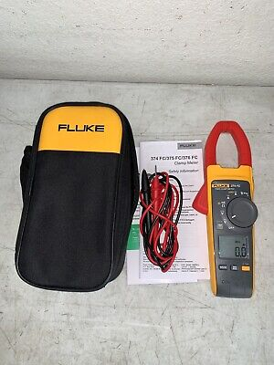 Fluke 374 Fc Wireless True-rms Acdc Clamp Meter Tool Mint