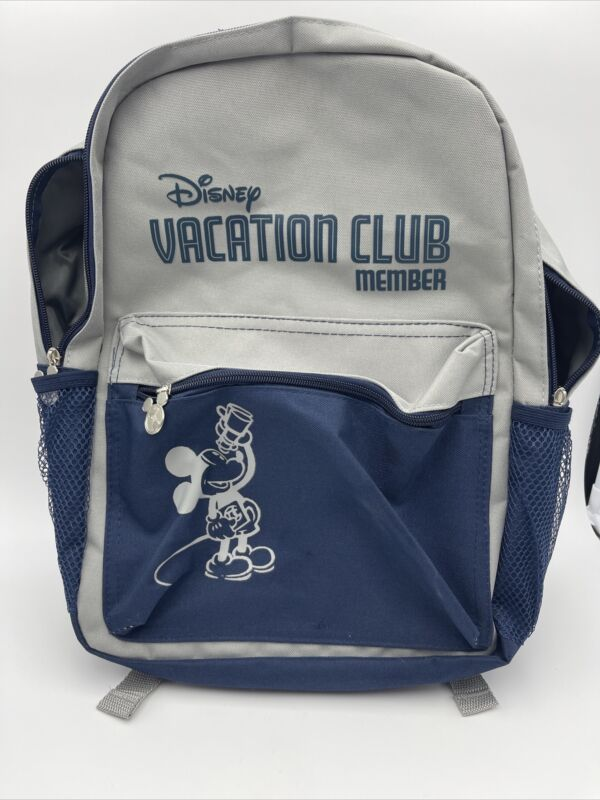 Disney Vacation Club Member Backpack 2018 Blue Gray New Design Mickey Mouse DVC
