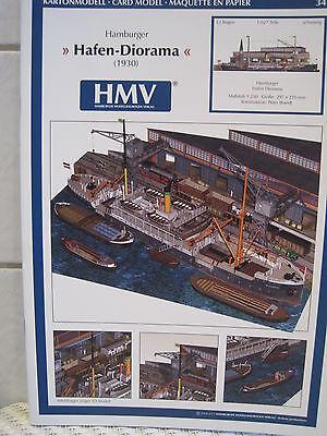 Hamburger Hafen Diorama 1930 Kartonbausatz *NEU* HMV- Bastelbogen