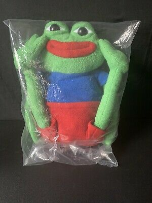 Pepe the Frog Plush NEW UNOPENED/SEALED BAG (Hashtag Collectibles)