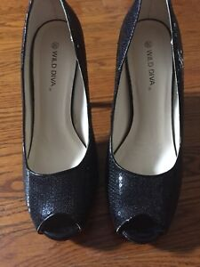 Sparkly/sequinned high heels (size 8.5)