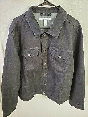 NWT Amazon Essentials Men's Denim Trucker Jacket Black Size XXL(52