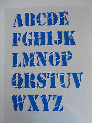 Schablone Buchstaben Schrift Nr.5 auf A4 ()