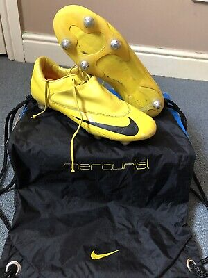 NIKE MERCURIAL VAPOR V YELLOW/BLACK FOOTBALL BOOTS SG UK SIZE 8