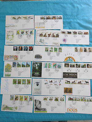 17 x Royal Mail First Day Covers: Nature: butterlies, birds, insects, Kew etc.