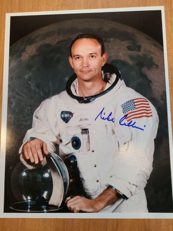 Michael Collins Apollo 11 Astronaut Crew Signed Autograph 8x10 Photo Authentic