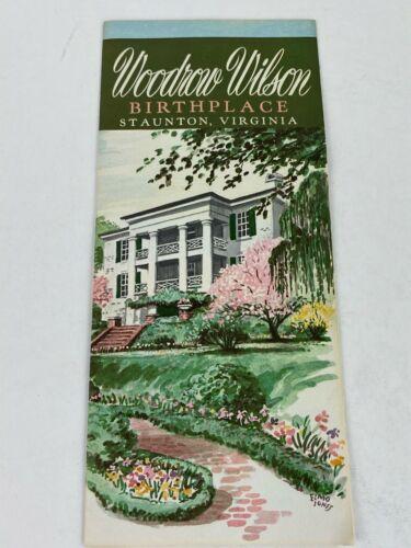 1960s Woodrow Wilson Birthplace Home Travel Brochure Staunton Virginia Vintage