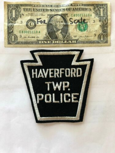 Haverford Pennsylvania Police Patch  un-sewn in great shape