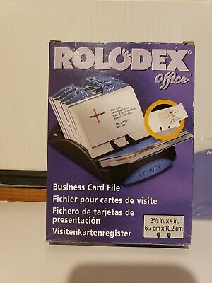 Rolodex Business Card Holder 2001 50ct. New Open Box Desk Office Work Home Acc.