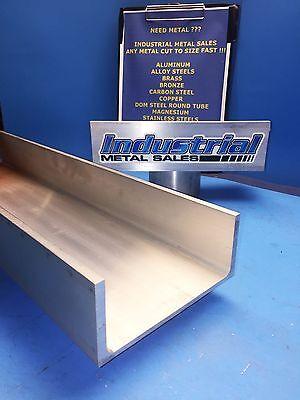 6061 T6 Aluminum Association Channel 6 X .210 X 3-14 X 48-long--6 Channel