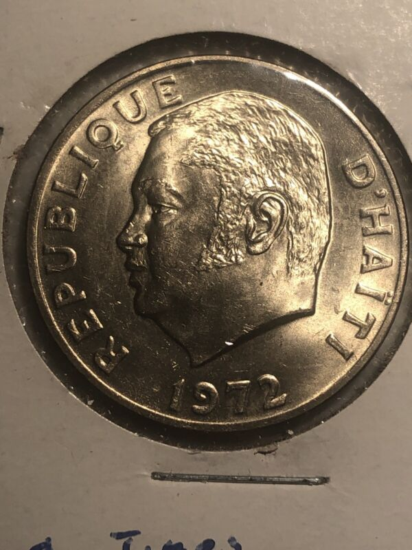 Haiti, 50 Centimes, 1972, Copper-nickel BU