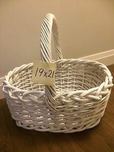 Large white basket