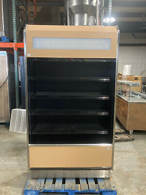 Barker 4 Open Air In Line Refrigerated Multi Deck Grocery Display Case 4722