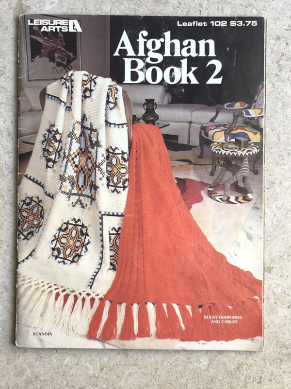 Leisure Arts 102 Afghan Book 2 Crochet Knit Patterns Book