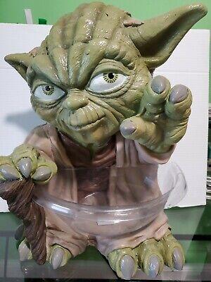 Large Yoda Candy Bowl Dish Holder Star Wars Halloween Green Alien Jedi Master