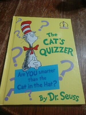 Dr Suess The Cat s Quizzer 1976 Print Large Book Hardcover Vintage