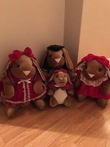 Christmas Bunny Family