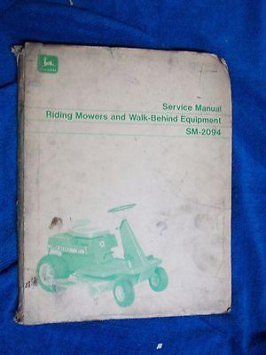JOHN  DEERE 55 56 57 RIDING MOWER TILLER SNOW BLOWER SERVICE MANUAL SM-2094 1971
