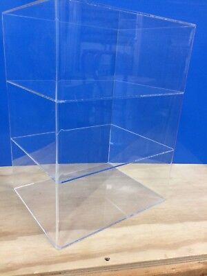 Acrylic Lucite Countertop Display Showcase Cabinet 12 X 9.5 X 16h 2 Shelves