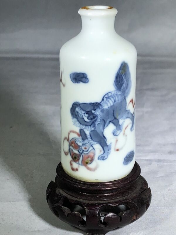 Stunning Chinese Antique Porcelain Snuff Bottle Qing Dynasty 18C-19C