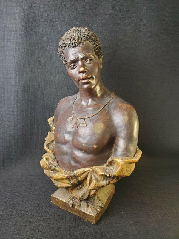 Goldscheider Orientalist Bust - African American Man c. 1891