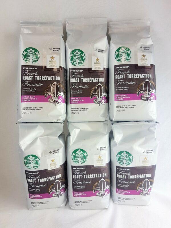 Lot of 6 bags Starbucks French Roast  Torrefaction Dark Roast 12 OZ BBD Jan 2020