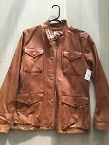 Brown GAP leather jacket - NWT small