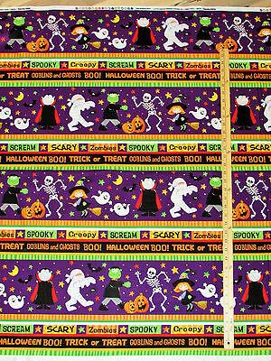 Happy Haunting Halloween Scream! Sampler Northcott Fabric by the 1/2 Yard #20588