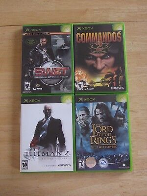 Original XBOX Combat Bundle 4 Games c/w Player Guides, used for sale  Markerville
