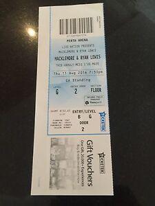 Macklemore & Ryan Lewis Concert Ticket Carramar Wanneroo Area Preview