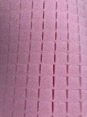 Pick And Pluck Foam Pink Anti Static Sheet 12 X 13 X 1 With 12 Pull Grid.