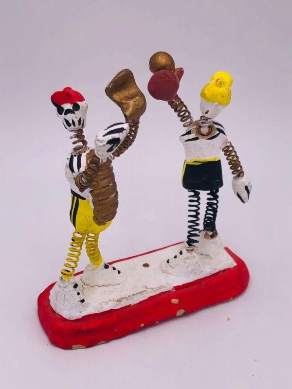 Vintage Dia de los Muertos, figures, Baseball, Day of the Dead, moving parts