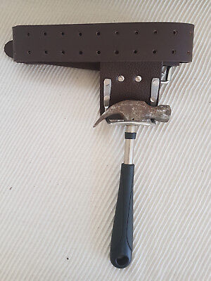Heavy Duty leather Tool Work Belt & Steel Saddle hammer holder New Best