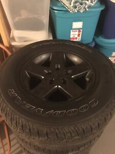 Goodyear wrangler tires on rims 255/ 75R/17