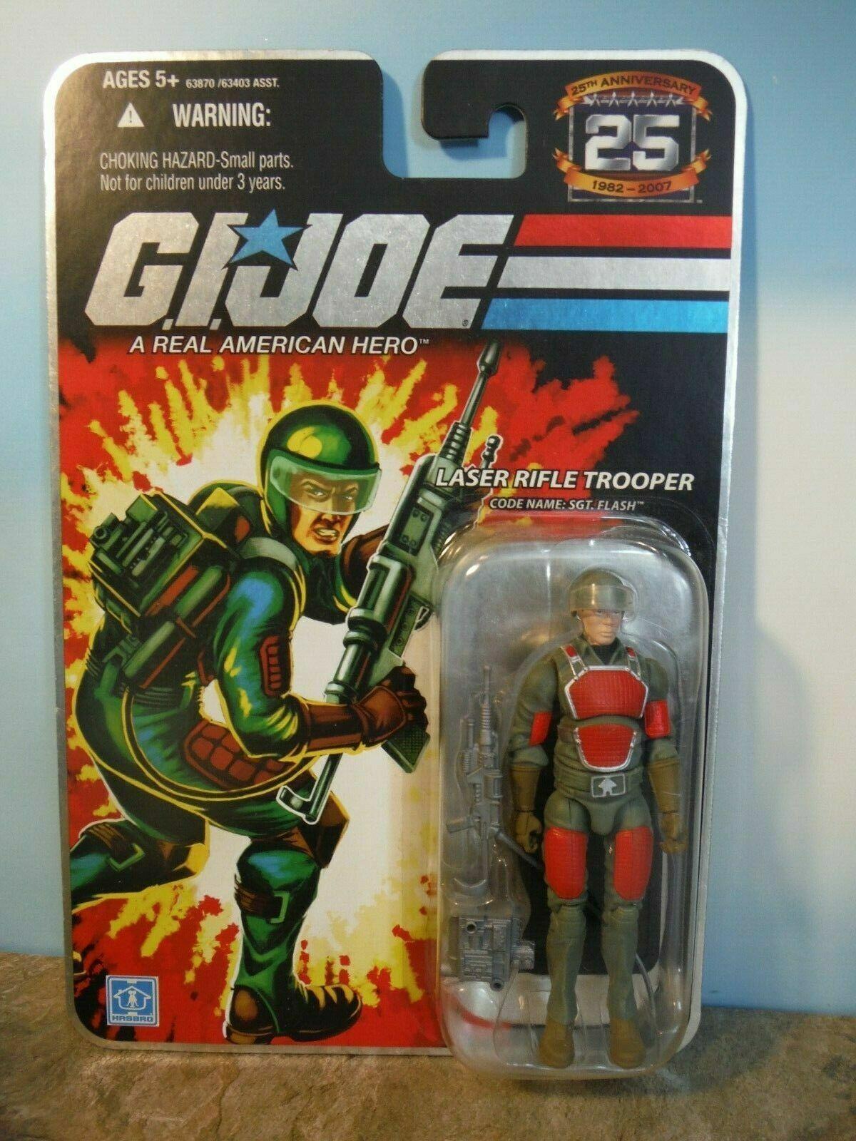Joe Cobra 25th Anniversary MOC Foil Flash Laser Rifle Trooper 2008 G.I Sgt